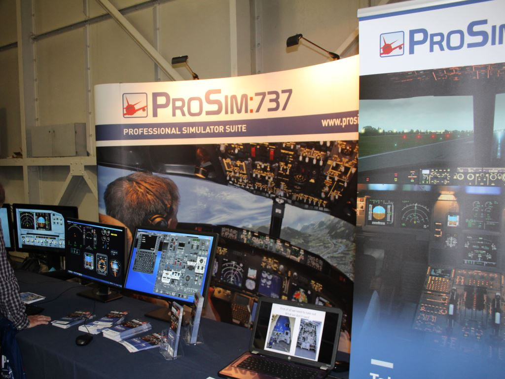 The ProSim stand showing their latest 737 professional simulator software suite