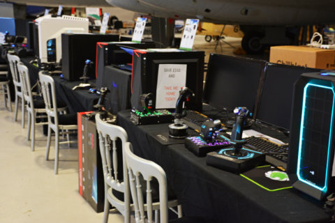 A selection of PC systems to try and buy at the Chillblast stand