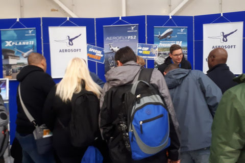 Aerosoft stand busy with visitors