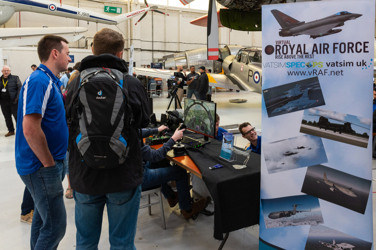 Visitors taking a look Virtual RAF